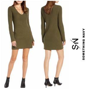 Something Navy Long Sleeve Tunic Sweater XS